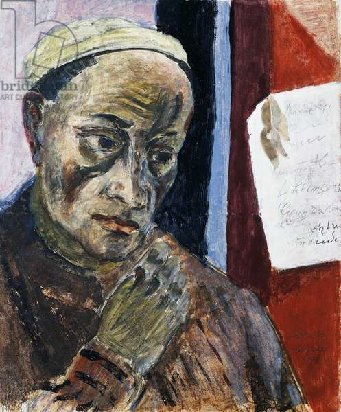 Self-portrait, 1936, by Erich Heckel (1883-1970). Germany, 20th century.