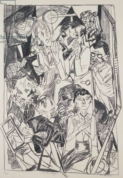The ideologues, by Max Beckmann (1884-1950), engraving. Germany, 20th century.
