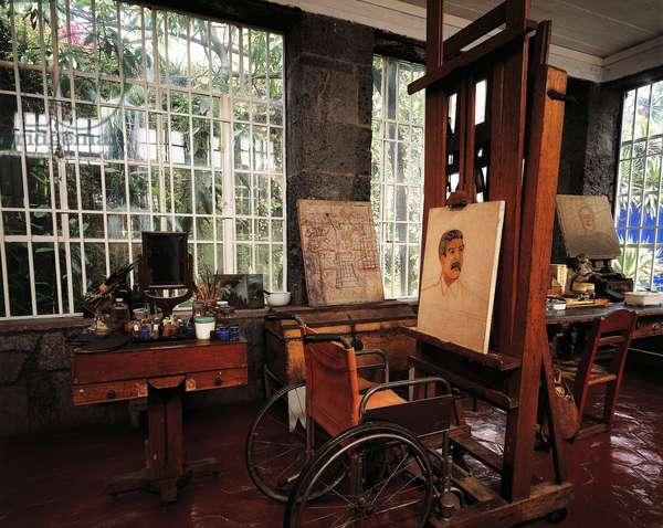 Study, Frida Kahlo museum, Coyoacan district, Mexico City, Mexico