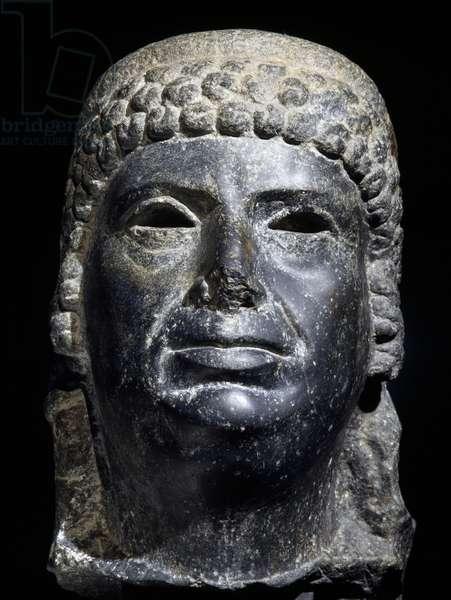 Head of Cleopatra III, basalt sculpture. Egyptian Civilisation, Ptolemaic Period, 2nd century BC.