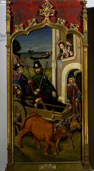 St James' body arriving in Galicia