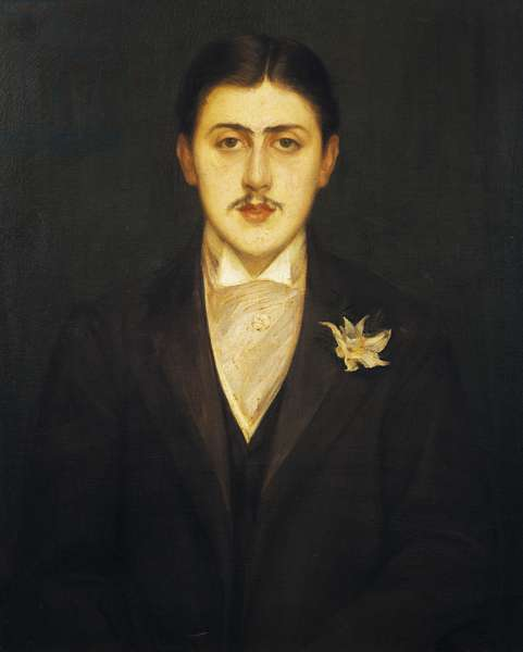 Portrait of Marcel Proust (Paris, 1871-1922), French writer, Painting by Jacques Emile Blanche (1861-1942)