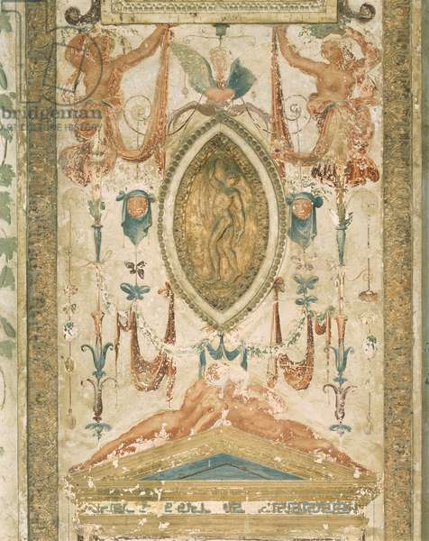Pilaster with grotesque decoration, 1518-1519, workshop of Raphael (1483-1520), Raphael Loggias, Apostolic Palace, Vatican City