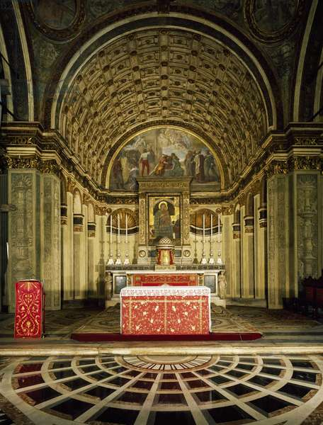 Italy, Milan, Church of Saint Mary Staying with Saint Satyrus, High altar, by Donato Bramante