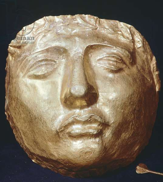 Gold funerary mask from Syria