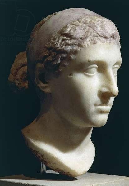 Marble head of Cleopatra VII, Roman Civilization, 50-30 BC