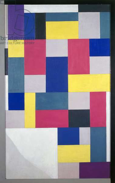 Composition (Peinture pure), 1920, by Theo van Doesburg (1883-1931), oil on canvas, 130x80 cm.