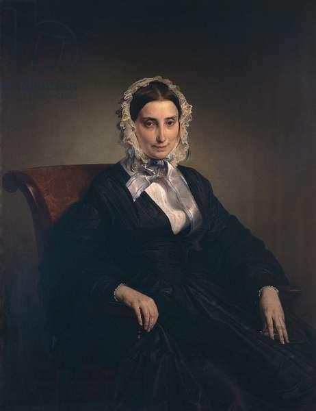 Portrait of Teresa Borri (second wife of Alessandro Manzoni) by Francesco Hayez (1791-1882)