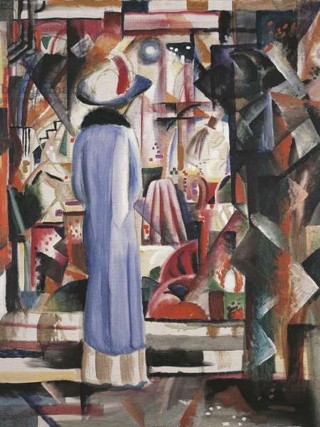 Large bright shop window, 1912 (oil on canvas)