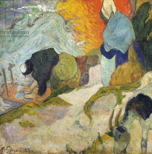 Laveuses à Arles (Washerwomen in Arles) 1888 (oil on canvas)