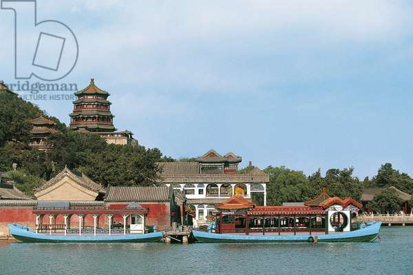 Longevity hill with Summer palace on Kunming Lake (UNESCO World Heritage List, 1998), Beijing, China, 18th-19th century
