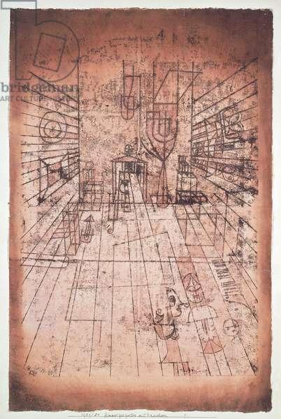 Switzerland, Bern, Room Perspective with Inhabitants, 1921-24