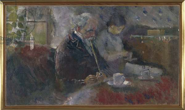 At the Coffee Table, 1883 (oil on canvas)