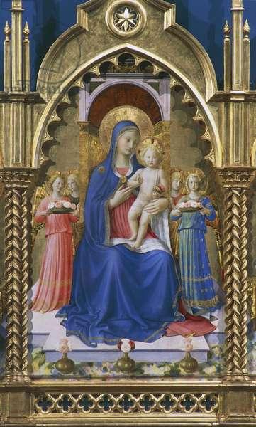 Madonna and Child, by Fra Angelico (Fra' Giovanni da Fiesole, born Guido di Pietro, ca 1400-1455), Perugia, Umbria, Italy