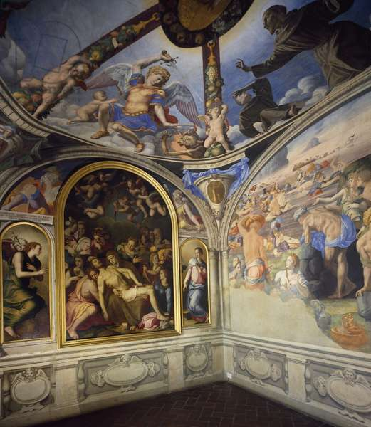 Italy, Florence, Palazzo Vecchio, Chapel of Eleonora, Frescoes, by Agnolo Bronzino, 1545