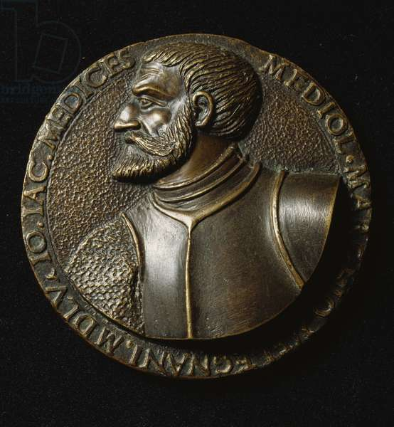Medal depicting Gian Giacomo Medici, known as, Medeghino (1498-1555), obverse, designed by Francesco Sangallo (1494-1576), 16th century