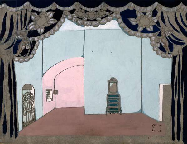Scenography by Charles Martin (1884-1934) for Act I of The Barber of Seville by Gioacchino Rossini, 1933, Paris Opera theatre, 20th century