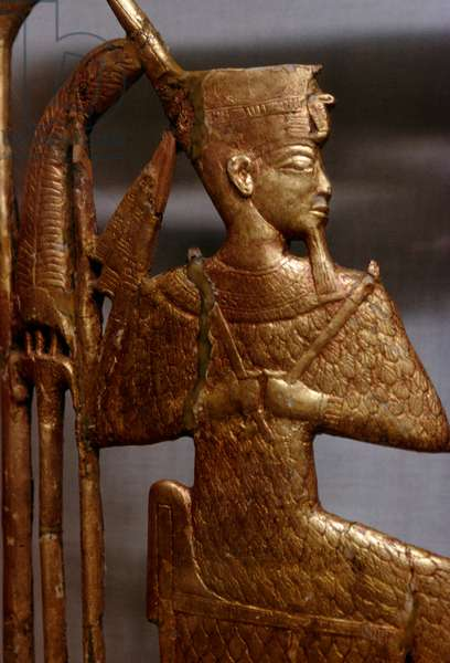 Grave goods, Treasury of Tutankhamun, 1333-1323 BC, Egypt, Egyptian civilization, New Kingdom, Dynasty XVIII, Detail