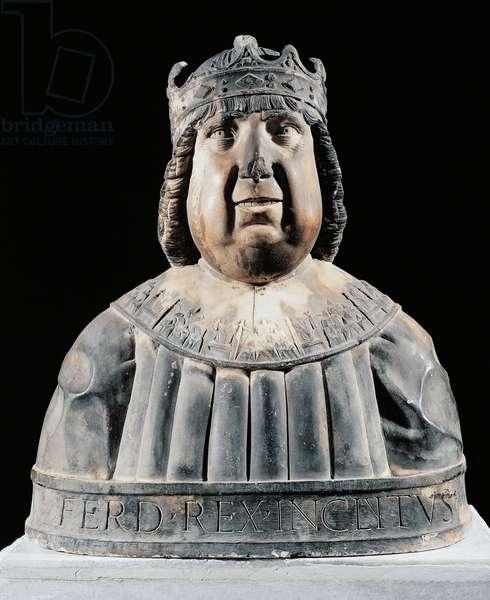 Bust of Ferdinand I (Ferrante) of Aragon (Valencia, 1424-Naples, 1494), King of Naples, Italy, 15th century