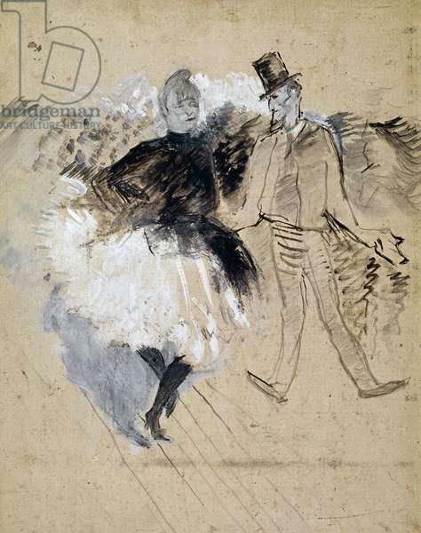 Au Moulin de la Galette, La Goulue et Valentin le Desosse', 1887 (oil on cardboard)