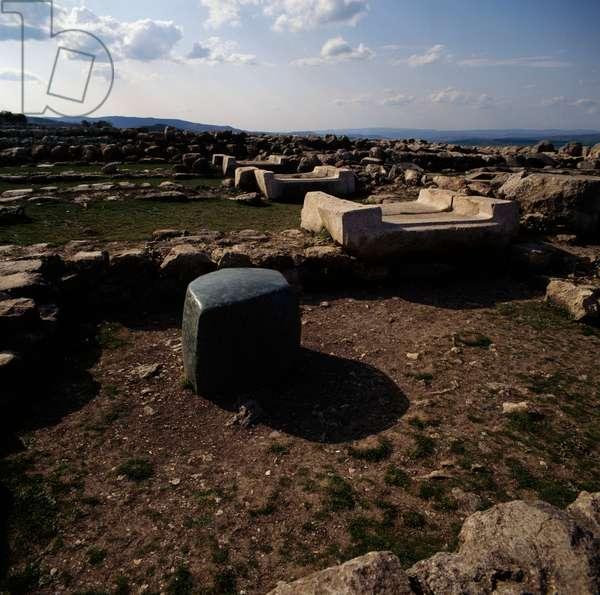 View of lower city of Hattusa (Bogazkoy), capital of Hittite empire (Unesco World Heritage List, 1986), Bogazkale, Turkey, Hittite civilization, 2nd millennium BC