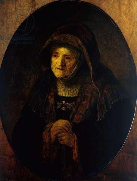 Prophetess Hannah (Mother of the Artist), 1639 (oil on canvas)