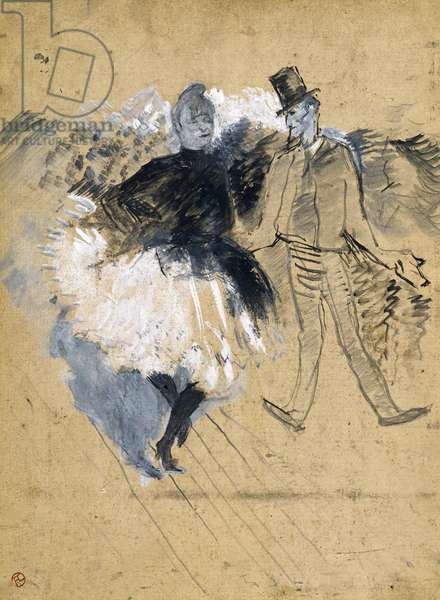 La Goulue and Valentin la Desossee, by Henri de Toulouse-Lautrec (1864-1901)