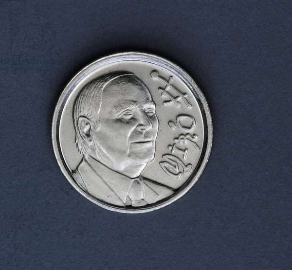 10 pesetas coin, 1993, centenary of Joan Miro's birth, obverse, Joan Miro' (1893-1983), Spain, 20th century