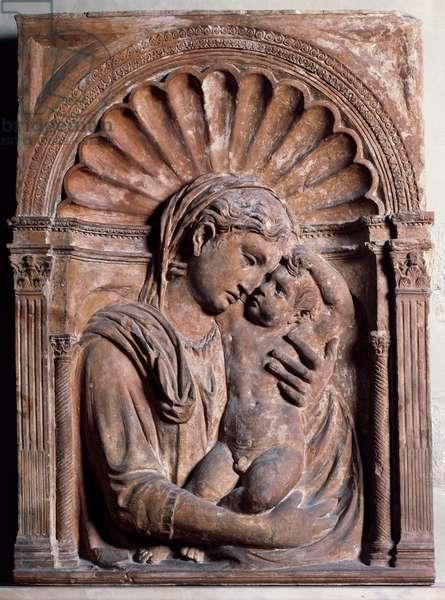 Madonna and Child, by Michelozzo di Bartolomeo (1396-1472), terracotta relief, Italy, 15th century