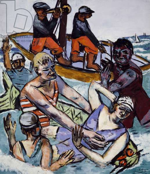 Swimming in August, 1937, by Max Beckmann (1884-1950). Germany, 20th century.
