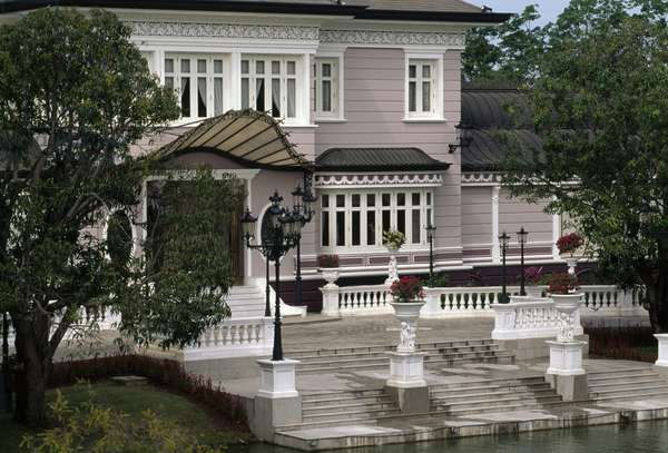 Pavilion in Summer Palace of King Rama V, on the banks of Chao Phraya river, Ayutthaya, Thailand, 17th-19th century