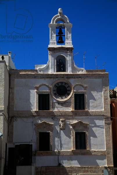 Clock palace, medieval, Polignano a Mare, Apulia, Italy