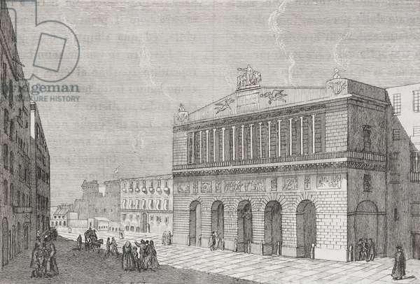 Teatro San Carlo in Naples, Campania, Italy, engraving from L'album, giornale letterario e di belle arti, Saturday, February 25, 1837, Year 3