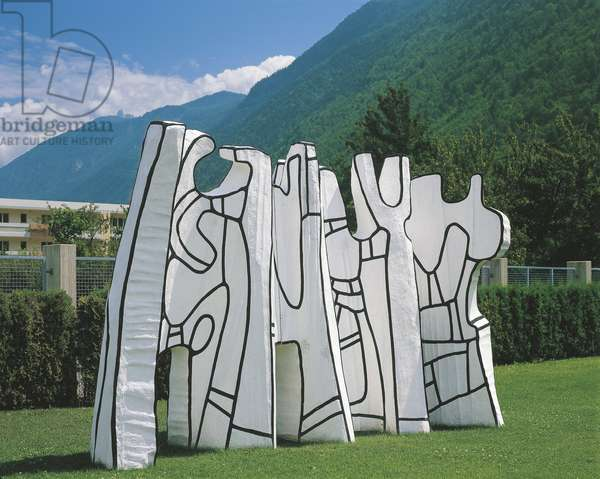 'Architectural Elements', Fondation Pierre Gianadda, Martigny by Jean Dubuffet (1901-95) 1969-1970 (photo)