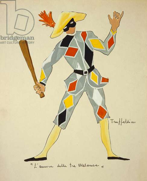 Costume for Trickster from The Love for Three Oranges by Sergei Prokofiev, sketch