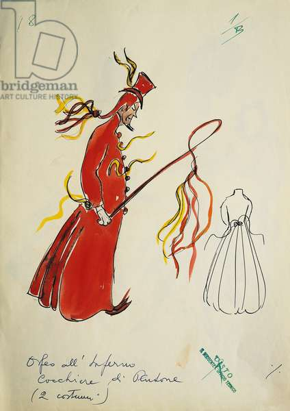 Costume for Coachman Pluto from Orpheus in the Underworld by Jacques Offenbach, 20th century