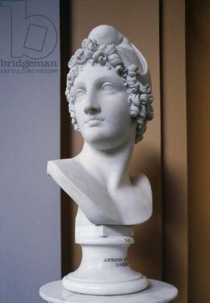 Head of Paris, by Antonio Canova (1757-1822), Ny Carlsberg Glyptotek, Copenhagen, Denmark