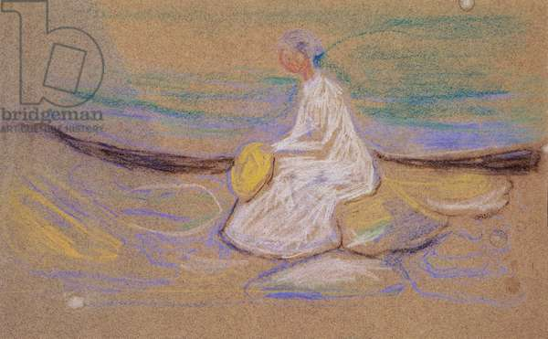 Girl on the beach, 1906, by Edvard Munch (1863-1944). Norway, 20th century.