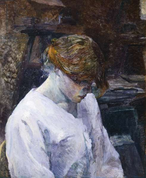 Red-haired woman in white camisole, by Henri de Toulouse Lautrec (1864-1901), 1889