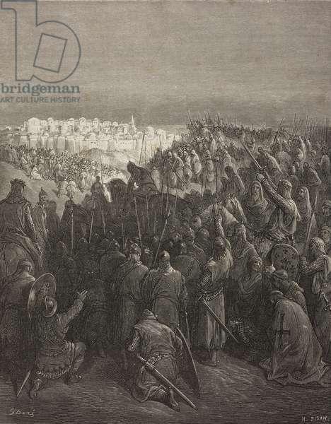 Crusaders rejoicing at the sight of Jerusalem (1099), First Crusade