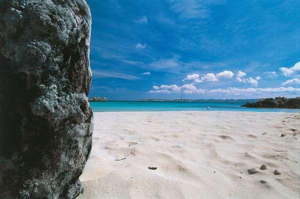Italy; Sardinia Region; La Maddalena Archipelago National Park; Island of Budelli; The Spiaggia Rosa (photo)