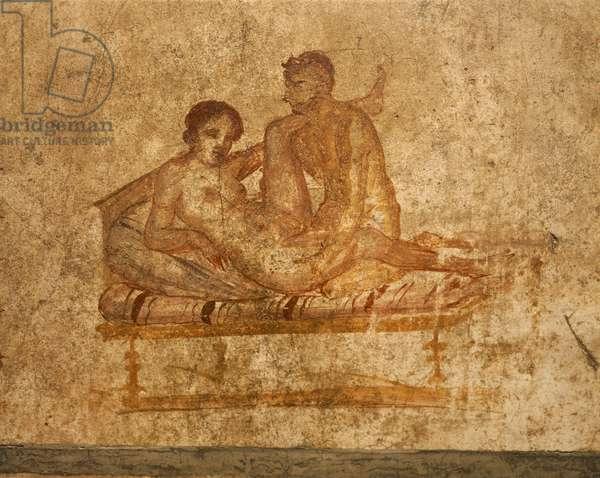 Italy, Campania Region, Naples Province, Pompei, House of Vettii, Erotic fresco