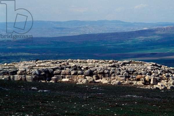Remains of walls in city of Hattusa (Bogazkoy), capital of Hittite empire (Unesco World Heritage List, 1986), Bogazkale, Turkey, Hittite civilization, 2nd millennium BC