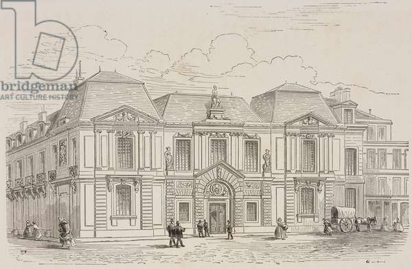 Hotel Carnavalet, engraving by Guillaumot Le Jeune, based on drawing by Fichot, from Paris-Guide by leading writers and artists of France, Volume 1, Science-Art, 1867