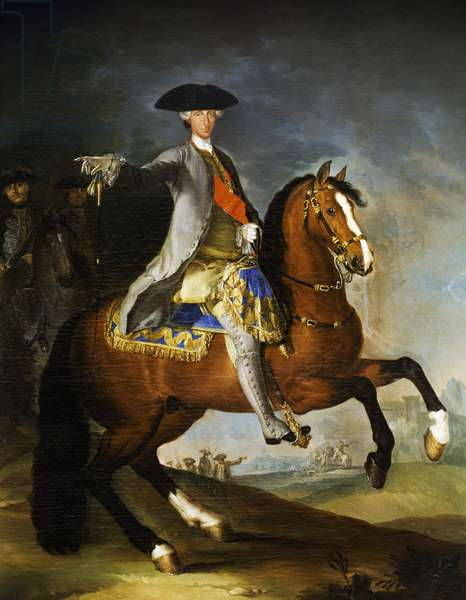 Portrait of Charles III of Bourbon (Madrid, 1716-1788), King of Spain, Painting by Francesco Liani (1712-1770)