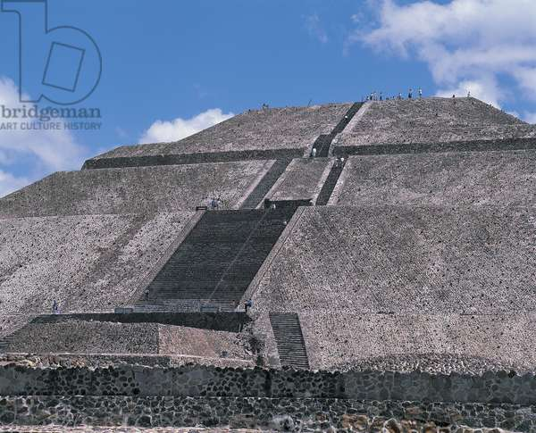 Low angle view of a pyramid, Avenue Of The Dead, Teotihuacan, Mexico City, Mexico