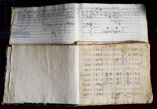 Handwritten score The Lady of the Lake, by Gioacchino Rossini (1792-1868), 19th century