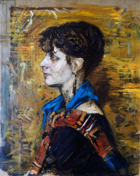 Portrait of the woman or the Gypsy woman