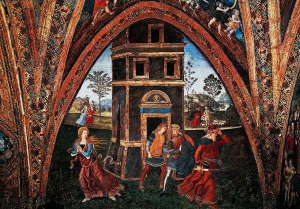 Martyrdom of Saint Barbara, by Bernardino Pinturicchio (ca 1452-1513), fresco, Hall of the Saints, Borgia Apartments, Apostolic Palace, Vatican City, Italy.