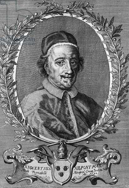 Portrait of Pope Innocent XII (Antonio Pignatelli, 1615-1700), engraving, 1695